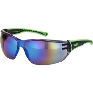 UVEX Sportstyle 204 Sportbrille black/green/green black/green/green