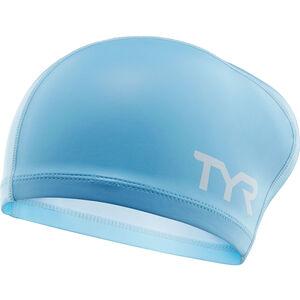 TYR Silicone Comfort Long Hair Swimming Cap light blue light blue
