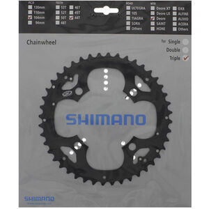 Shimano Deore FC-M530 Kettenblatt für KSR 9-fach schwarz schwarz
