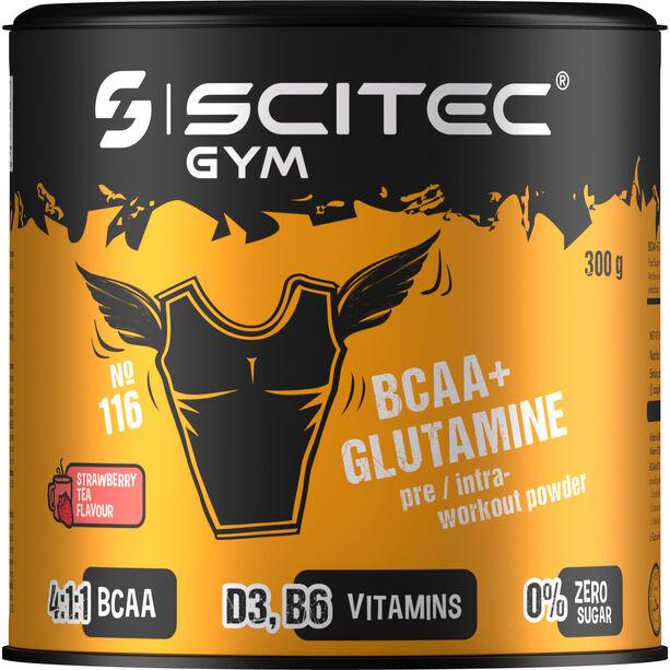 SCITEC BCAA&Glutamine Workout Pulver 300g Erdbeere-Schwarztee