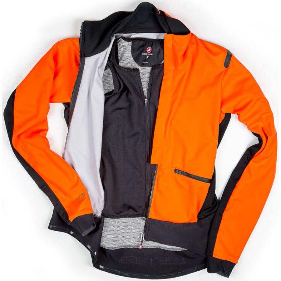 Castelli Alpha Ros Jacket Herren orangeblack