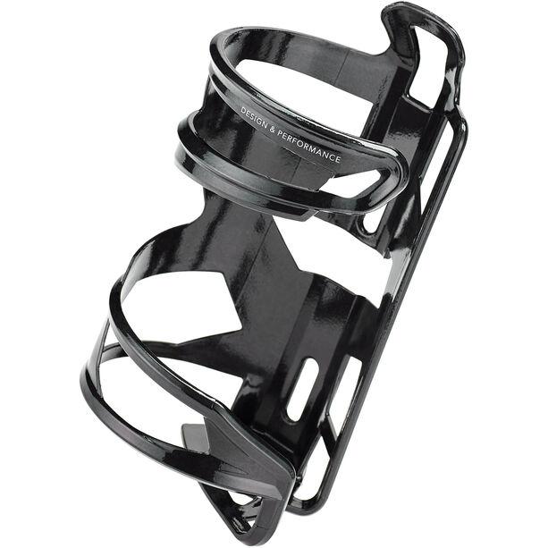 Elite Prism Flaschenhalter rechts Carbon schwarz glänzend/weiße grafik