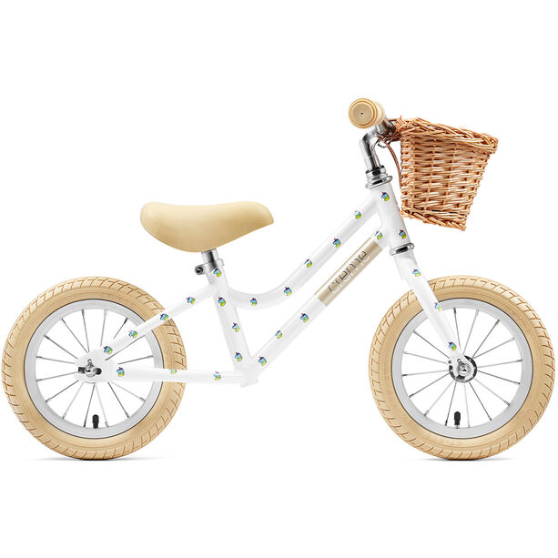 """Creme Mia Push-Bike 12"""" Kinder white unicorn"""