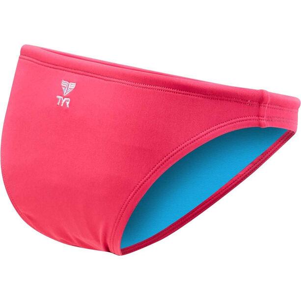 TYR Solid Mini Bikini Bottom Damen fluo pink
