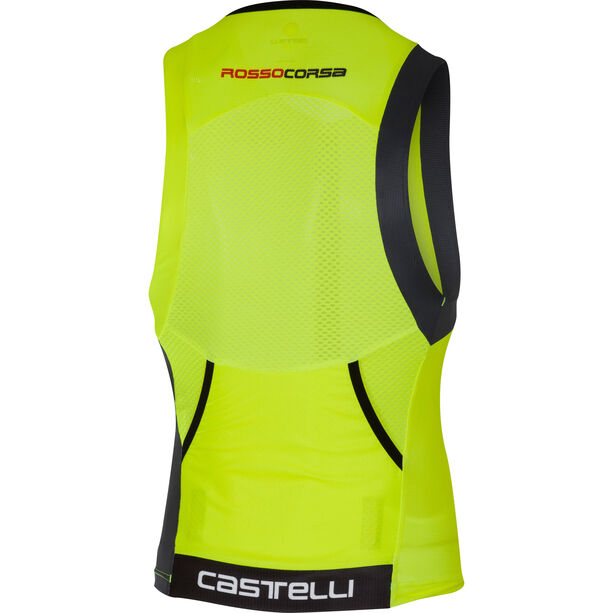 Castelli Free Tri Top Herren yellow fluo/black