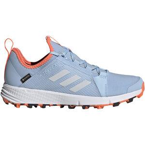 adidas TERREX Agravic Speed GTX Schuhe Damen glossy blue/footwear white/hi-res coral glossy blue/footwear white/hi-res coral