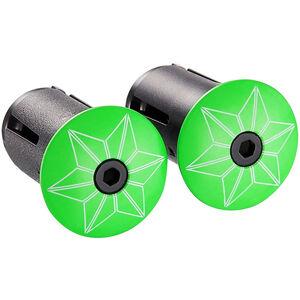 Supacaz Star Plugz Lenkerendkappen neon grün-pulverbeschichtet neon grün-pulverbeschichtet