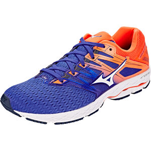 Mizuno Wave Shadow 2 Shoes Men Reflex Blue/White/Nasturtium bei fahrrad.de Online