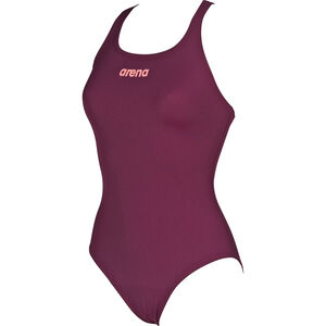 arena Solid Swim Pro One Piece Swimsuit Damen red wine-shiny pink red wine-shiny pink