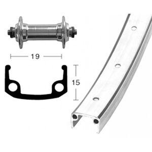 Bike-Parts Vorderrad 28x1.3/8 Alu Nabe 36L silber bei fahrrad.de Online