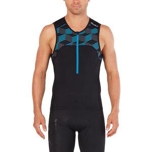 2XU Active Tri Singlet Herren black/retro dresden blue black/retro dresden blue