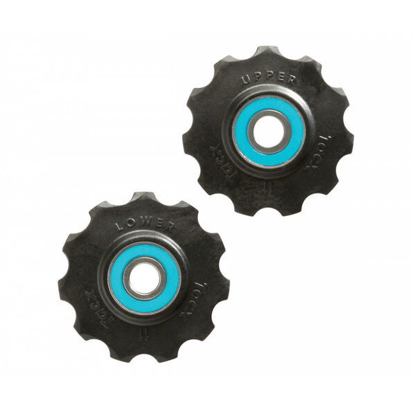 Tacx Ceramic Jockey Wheels 11 Zähne black/blue