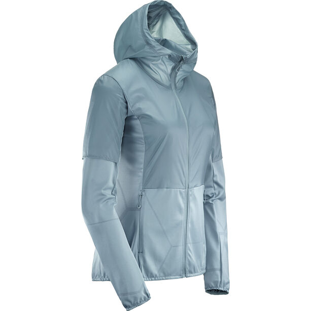 Salomon Elevate Aero FZ Midlayer Damen smk.-blue
