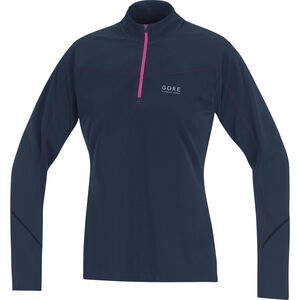 GORE RUNNING WEAR Essential Thermo Shirt Women black iris/raspberry rose