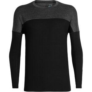 Icebreaker Kinetica LS Crewe Shirt Herren black/black heather black/black heather