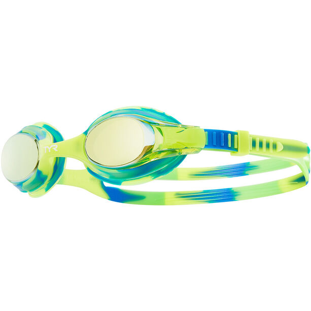 TYR Swimple Tie Dye Mirrored Goggles Kinder gold/green