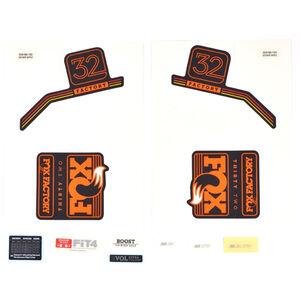 Fox Racing Shox Decal Kit 2018 32 F-S orange/matt black orange/matt black