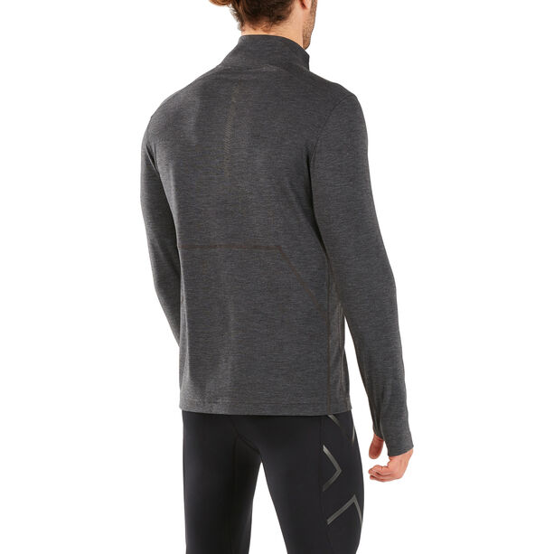 2XU Heat 1/4 Zip Top Men outer space/outer space