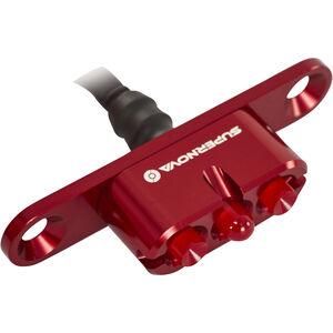 Supernova E3 Tail Light 2 Gepäckträger rot rot