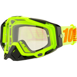 100% Racecraft Anti Fog Clear Goggles attack yellow attack yellow