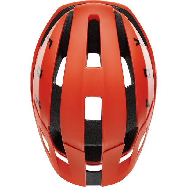 Fox Flux Solid Helm orange crush