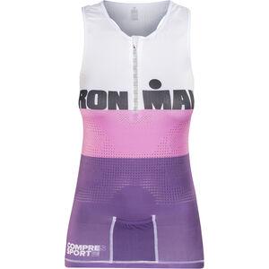 Compressport TR3 Triathlon Tank Top Ironman Edition Damen stripes purple stripes purple