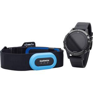 Garmin fenix 5 Saphir GPS Uhr Performer Bundle / Premium HRM-Tri Brustgurt + QuickFit black black