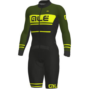 Alé Cycling PRS Fango Skinsuit Herren black-green-fluo yellow black-green-fluo yellow