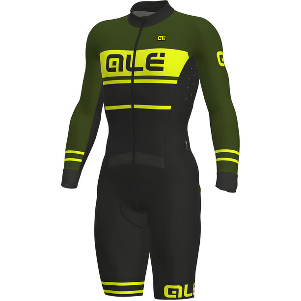 Alé Cycling PRS Fango Skinsuit Herren black-green-fluo yellow