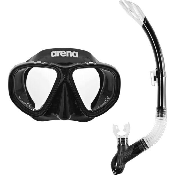 arena Premium Snorkeling Set black-clear-black