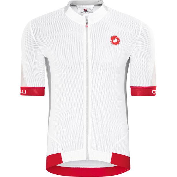 Castelli Volata 2 FZ Jersey Herren white/red
