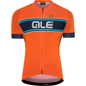 Alé Cycling Solid Vetta Shortsleeve Jersey Herren flou orange-blue-turquoise flou orange-blue-turquoise