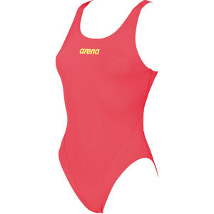 arena Solid Swim Tech High One Piece Swimsuit Damen fluo red-soft green fluo red-soft green