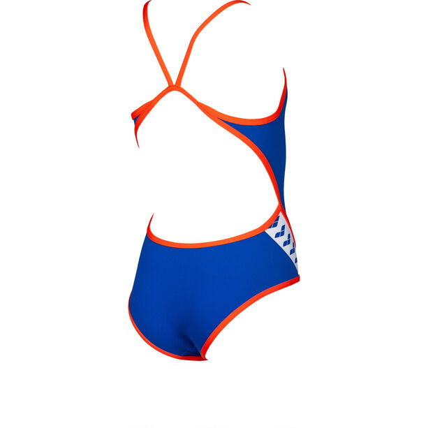 arena Team Stripe Super*** Back One Piece Badeanzug Mädchen neon blue/nectarine