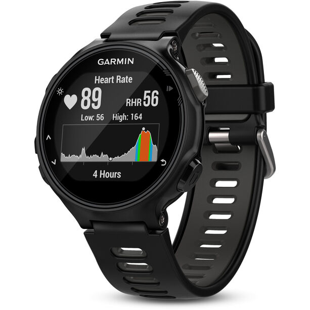 Garmin Forerunner 735XT Laufuhr inkl. Premium HRM-Run Brustgurt black/grey