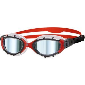 Zoggs Predator Flex Titanium Goggles L frame/red/mirror frame/red/mirror