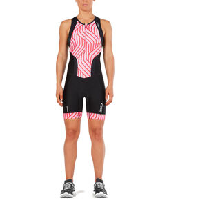 2XU Perform Front Zip Trisuit Women black/rose pink tide bei fahrrad.de Online
