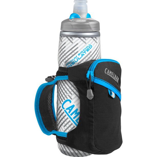 CamelBak Quick Grip Chill Handheld Wasserflasche black/atomic blue
