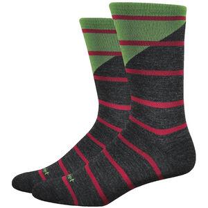 """DeFeet Mondo Wool 7"""" Socks tieon (charcoal/green) tieon (charcoal/green)"""