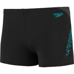 speedo Boom Splice Aquashorts Herren black/aquasplash/oxid grey black/aquasplash/oxid grey