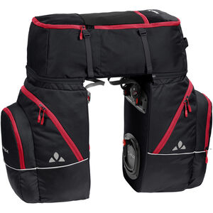 VAUDE Karakorum Pannier Set 3 Pieces black/red black/red