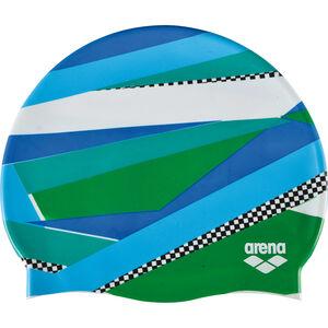 arena Print 2 Swimming Cap stripes green stripes green