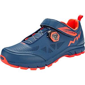 Northwave Corsair Shoes Men blue/lobster orange