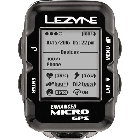 Lezyne Micro GPS Fahrradcomputer mit Herzfrequenzmessgerät und Speed Cadence Sensor