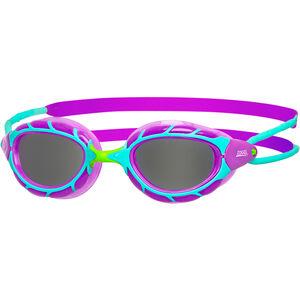 Zoggs Predator Goggles Kinder purple/light blue/smoke purple/light blue/smoke