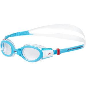 speedo Futura Biofuse Flexiseal Goggles Kinder white/turquoise/clear white/turquoise/clear