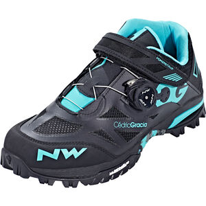 Northwave Enduro Mid Shoes Herren black/aqua black/aqua