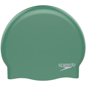 speedo Plain Moulded Silicone Cap Kinder green/white green/white