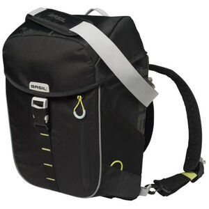 Basil Miles Daypack Gepäckträgertasche 14l black lime black lime