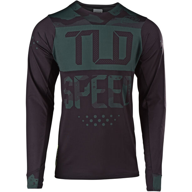 Troy Lee Designs Skyline Air LS Jersey Herren speedshop/stealth camo/black